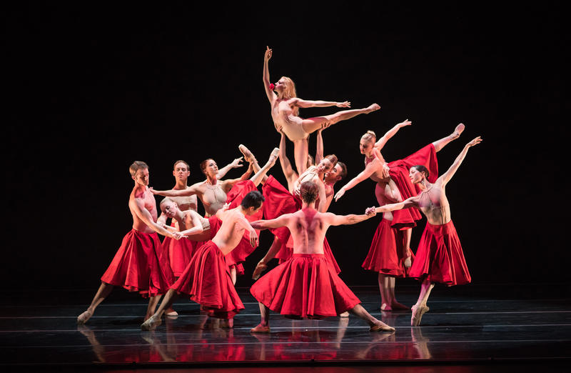 Smuin dancer Erica Felsch (top) and the Smuin company in the West Coast premiere of Annabelle Lopez Ochoa's Requiem for a Rose, presented as part of Smuin's Dance Series 01, Sept 29 - Oct 7 at the Palace of Fine Arts, San Francisco...