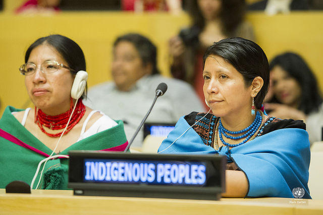 Event Marking International Day of the Indigenous Peoples taken by flickr user United Nations Photo