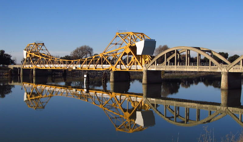 Bridge across the Sacramento River at Isleton