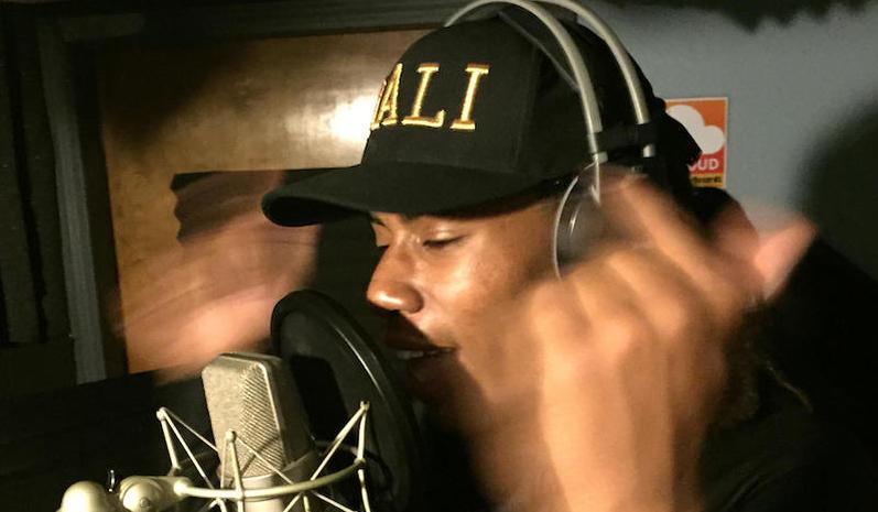 """Malachi """"Mali"""" Salaam drops rhymes at Upstar Records"""