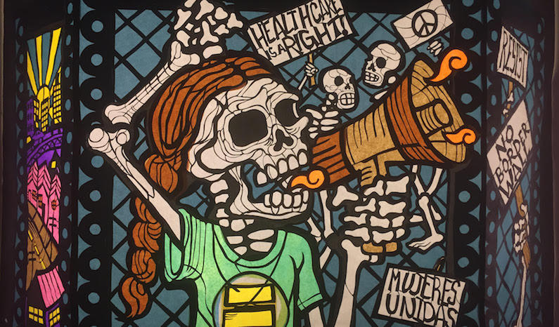 Artwork by Adriana Garcia, featured in the 2017 Day of the Dead exhibit at SOMArts
