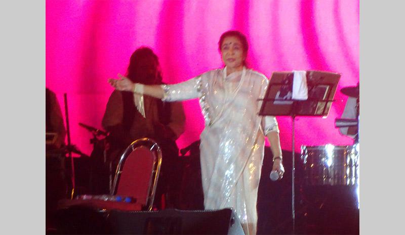 Bollywood legend Ashe Bhosle in Kolkata