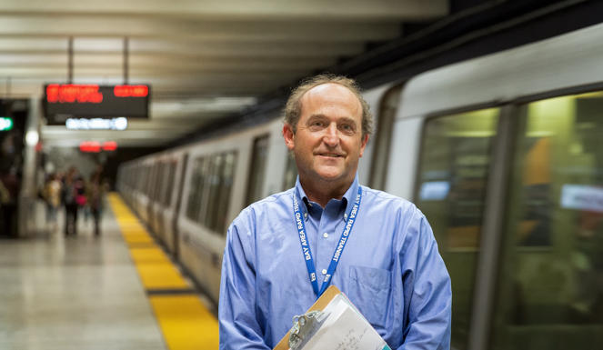 It's Bob Franklin's job to make sure BART is accessible to people with disabilities.