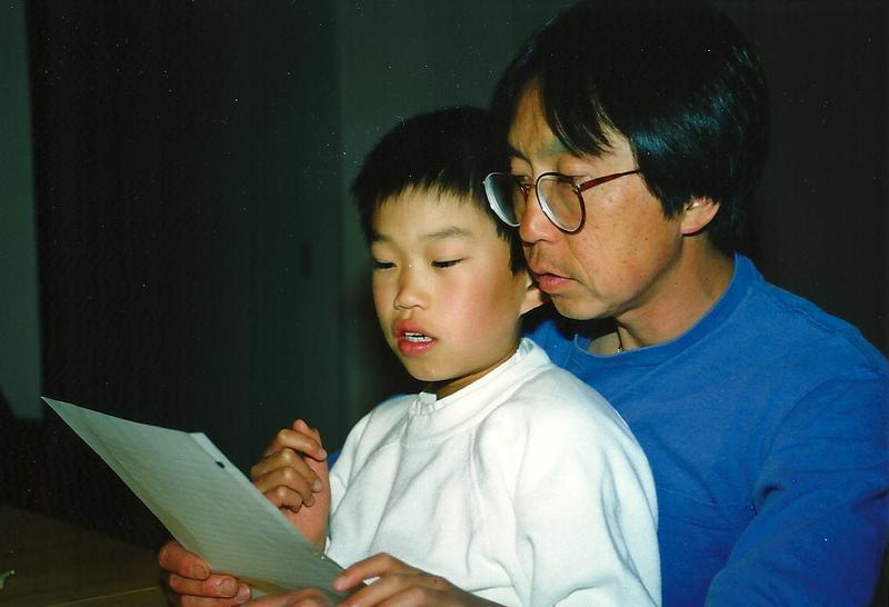Jeremy Jue with his dad, Robert