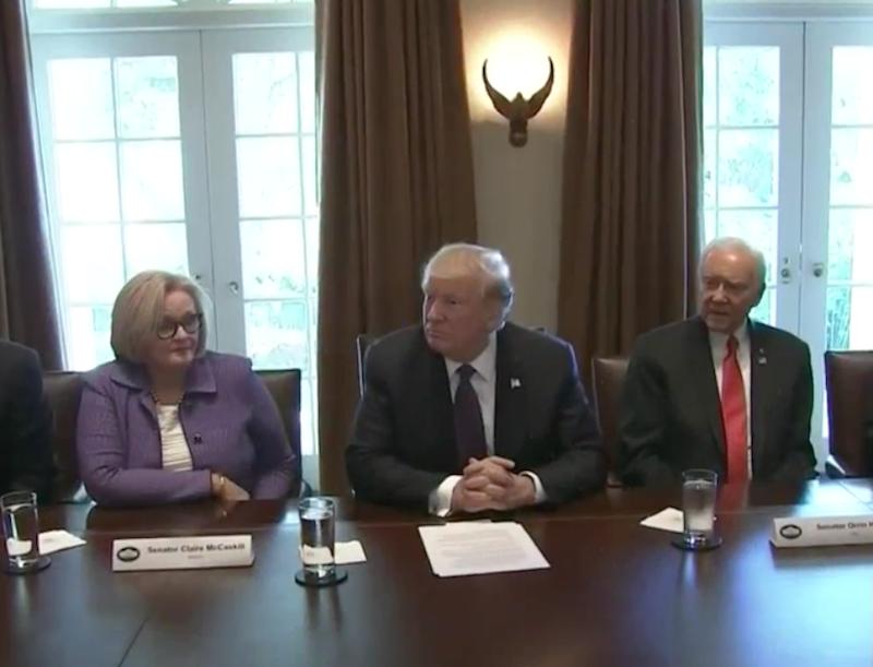 President Trump Meeting with Senate Finance Committee