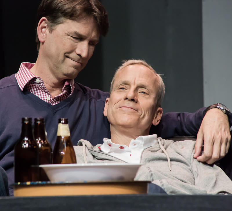 Jeremy Cole (left) as Felix and John Fisher as Ned in THE NORMAL HEART by Larry Kramer, a Theatre Rhinoceros Production at The Gateway Theatre (formerly The Eureka Theatre) through November 25…