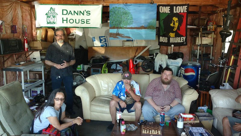 Residents and staff of Dann's House, an alcohol-friendly facility for the homeless in Traverse City, Michigan