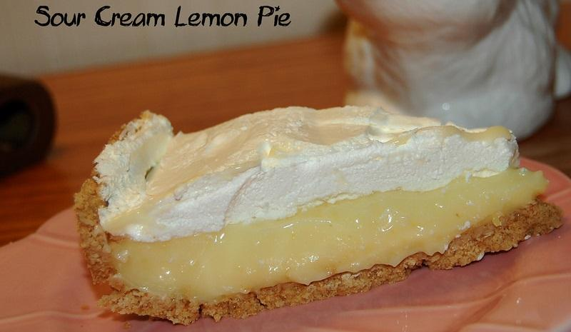 Sour Cream Lemon Pie, taken by flickr user Leslie