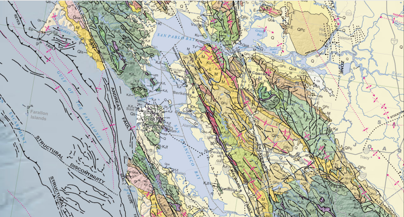 Geological map of California