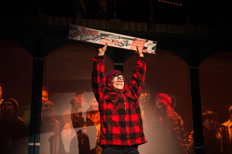 Jonah Broscow as Ralphie Parker in 'A Christmas Story: The Musical', now through January 13 at SF Playhouse…