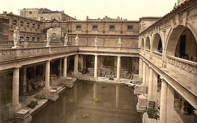 Fancy a dip in the murky Roman Baths and Abbey in Bath, England?