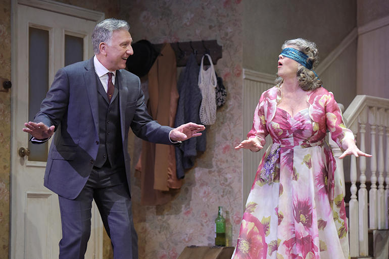 Scott Wentworth (Goldberg) and Judith Ivey (Meg) in Harold Pinter's 'The Birthday Party', at ACT through February 4...