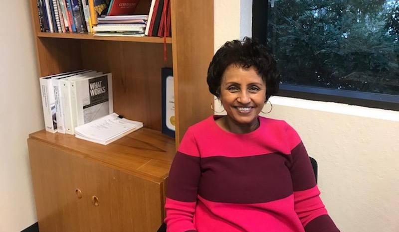 Almaz Negash in her office