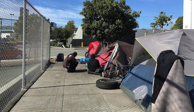 A tent encampment in San Francisco