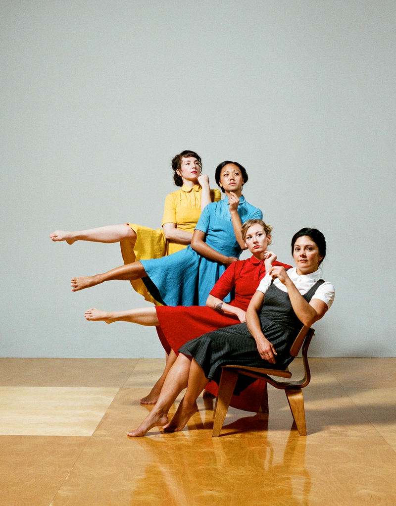 Anna Greenberg,  Allegra Bautista, Nell Suttles, and Heather Arnett, in 'Eames' by Kristin Damrow and Company, at ODC Theater in San Francisco from January 25-27…