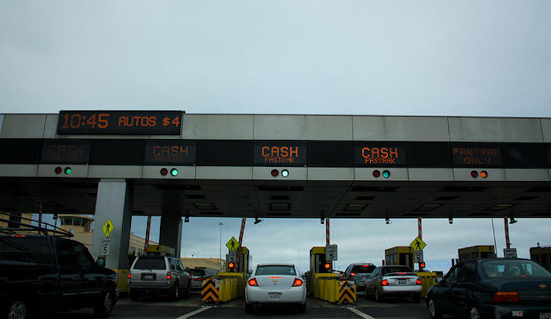 The Bay Bridge toll plaza