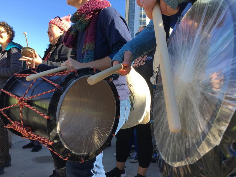 Performers from San Jose Taiko