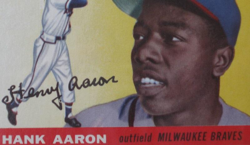 Hank Aaron, taken by flickr user Baseball Collection