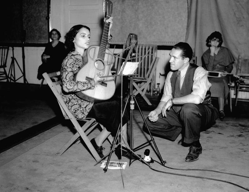 Lydia Mendoza at her first recording session. Texas Hotel San Antonio, TX– 1934
