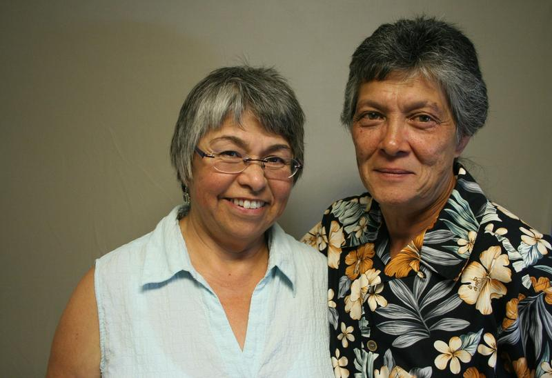 Marcelina Delgadillo (left) and partner Peg Lum (right)