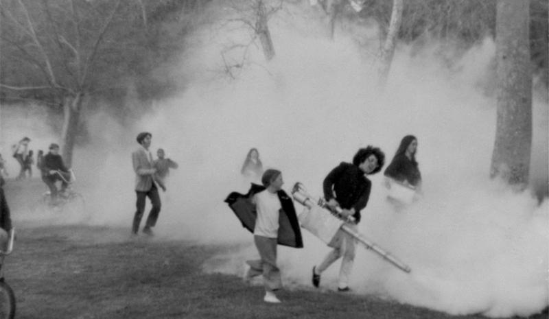 Judy Chicago, Smoke Gun Atmosphere, 1968, smoke machine, Brookside Park, Pasadena, CA.