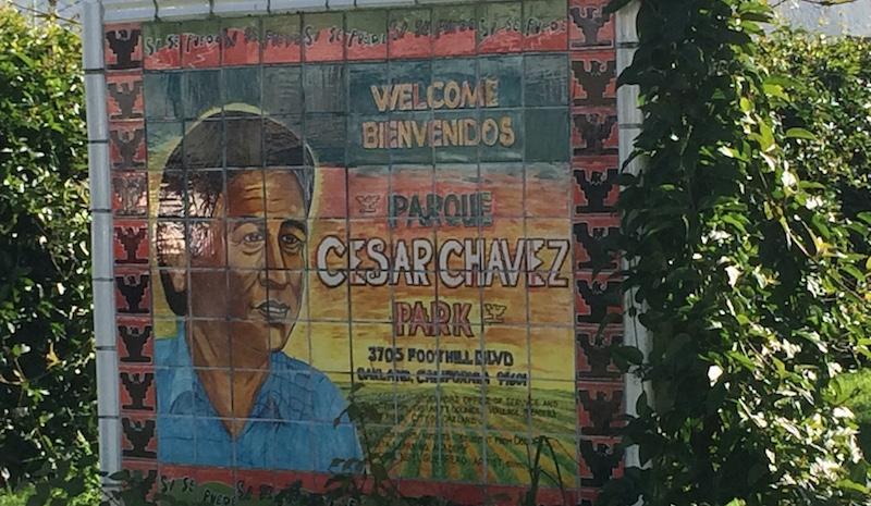Cesar Chavez Park in the Fruitvale neighborhood