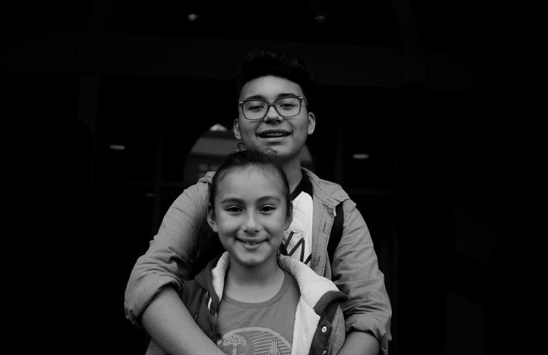 Future civic leaders: Ivan Garcia, a youth activist in Oakland, and his sister Ivoneth.