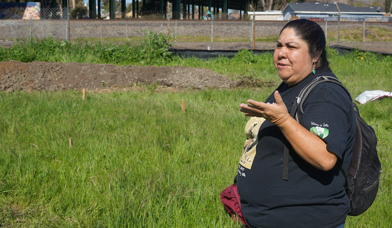 Corrina Gould's ancestors lived on this land in the Sobrante Park neighborhood of East Oakland for millennia.