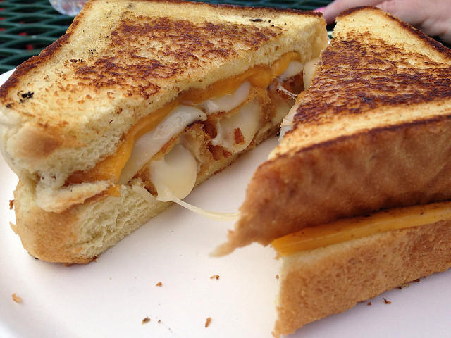Ultimate Grilled Cheese  from Mangler's Meltdown, taken by, maybe even eaten by flickr user Brian Indrelunas