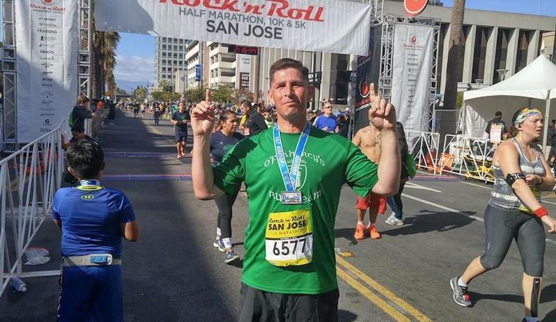 Jake McCluskey at the San Jose Rock n Roll Half Marathon