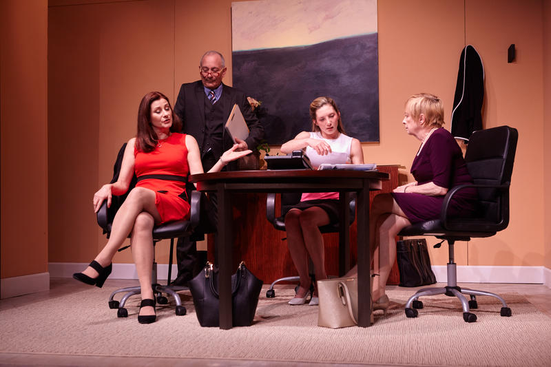 (From L-R: ) Sally Dana, Louis Parnell, Heather Gordon and Nancy Madden in Disruption', by 3Girls Theatre Company, at Z Below (450 Florida Street, San Francisco) through April 28…