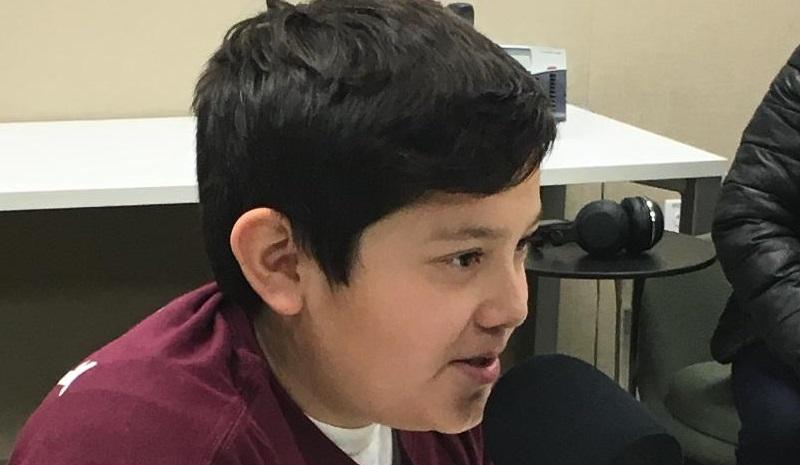 Marco Gongora, a student at Paul Revere Elementary School