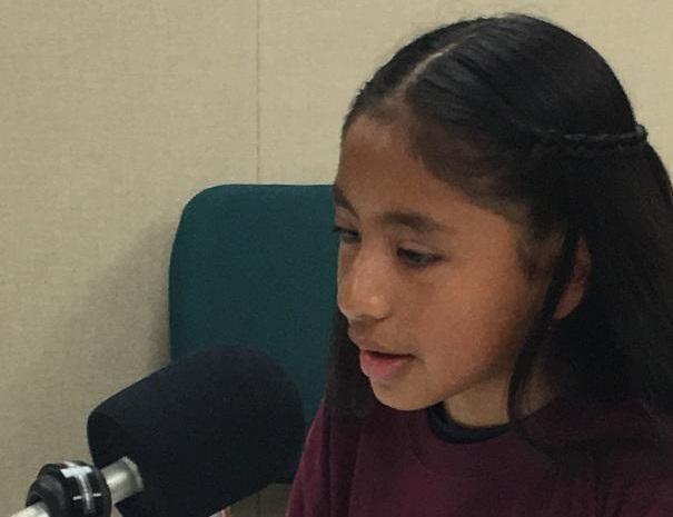 Melany Perez, a student at E. R. Taylor Elementary School