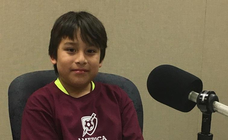 Santos Dzib is a student at Sanchez Elementary School