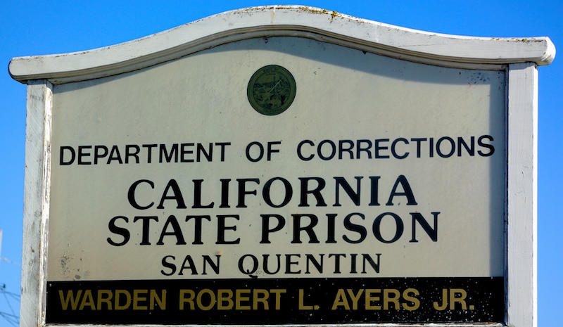 San Quentin State Prison sign