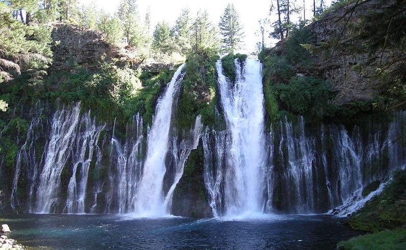 Waterfall at McArthur–Burney Falls Memorial State Park, Shasta County.