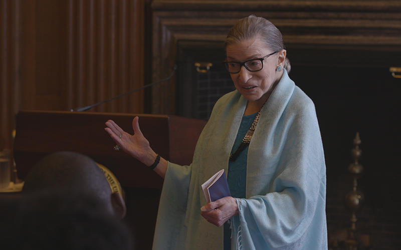 Justice Ginsburg in RGB, a Magnolia Pictures release.