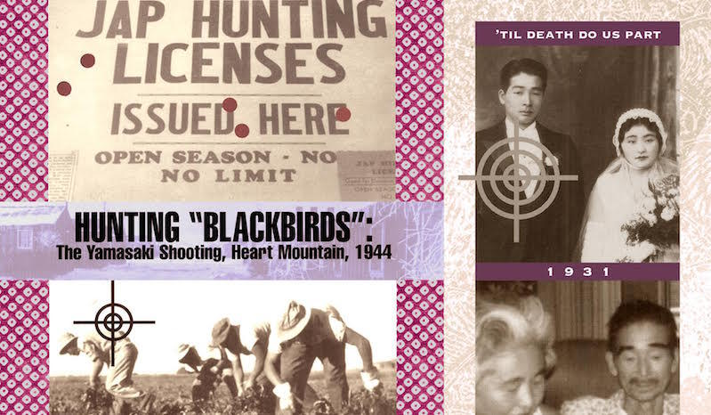 """Hunting Black Birds"" by Shizue Seigel. The racially-motivated shooting of Seigel's cousin inspired this photo collage."