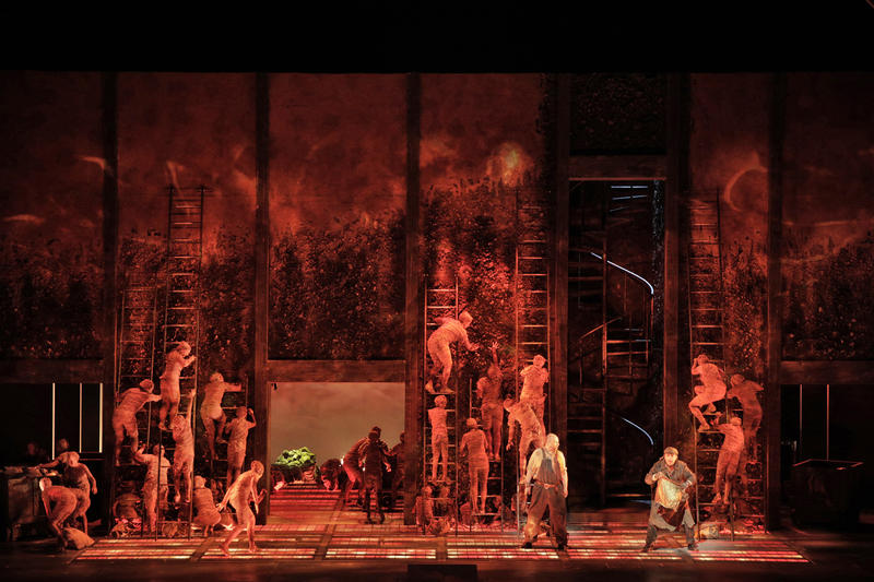 A scene from Wagner's 'Das Rheingold', which opened The Ring, this week at San Francisco Opera…