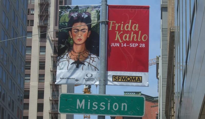 Frida Kahlo poster, taken by flickr user Adam Knight