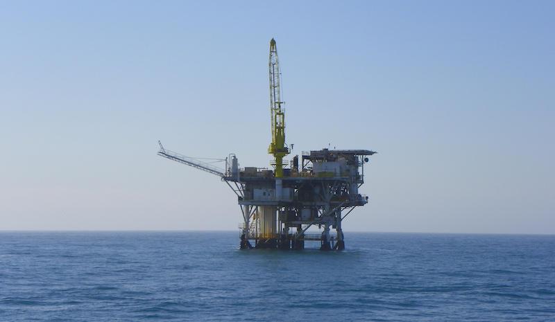 Offshore Oil Rig, Oxnard, Ventura County, California