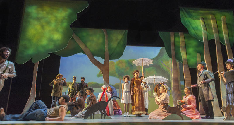 The cast of Sunday in the Park with George take their positions in Georges Seurat's famous painting…