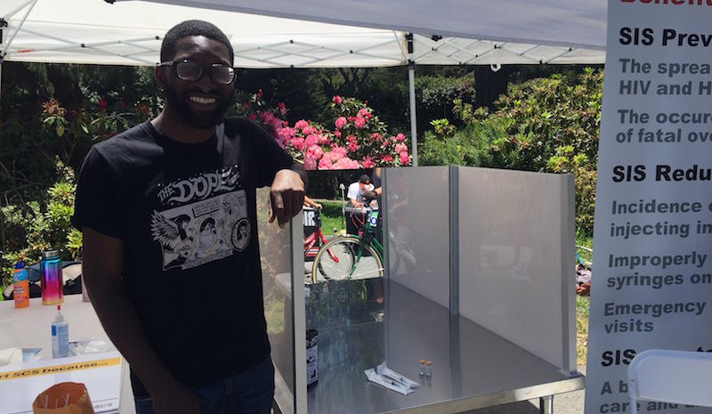 Charles Hawthorne with safe injection booth