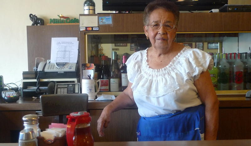Waitress Lucy Reyes started working at Mitla Cafe in 1951.