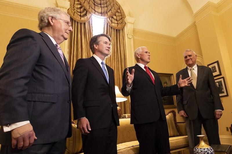 Mitch McConnell, Brett Kavanaugh, Mike Pence, and Jon Kyl