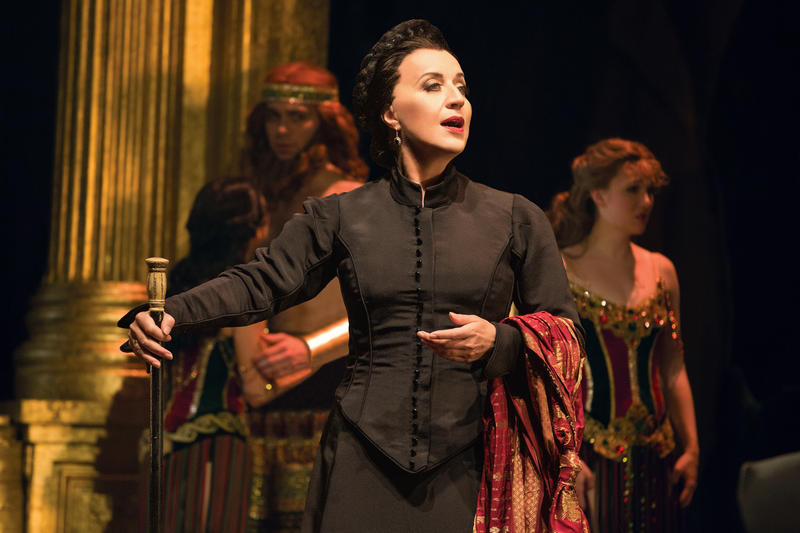 Kristie Dale Sanders as 'Madame Giry' in the touring production of 'The Phantom of the Opera', at the Orpheum in San Francisco through September 30…