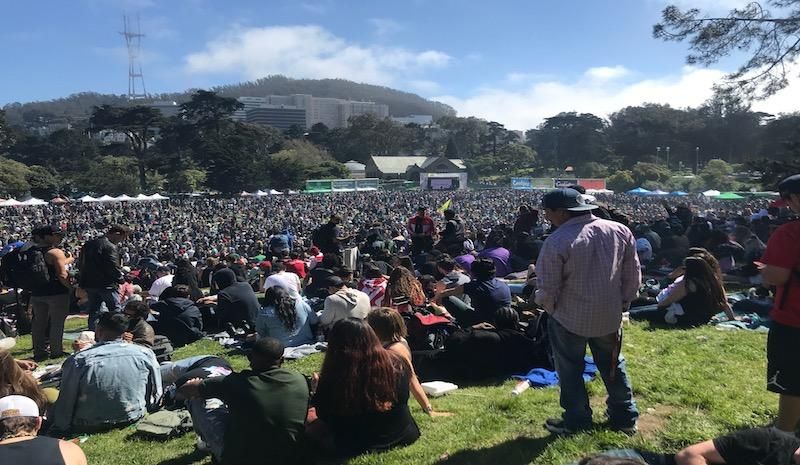 From the top of Hippie Hill at this years 420 festival.