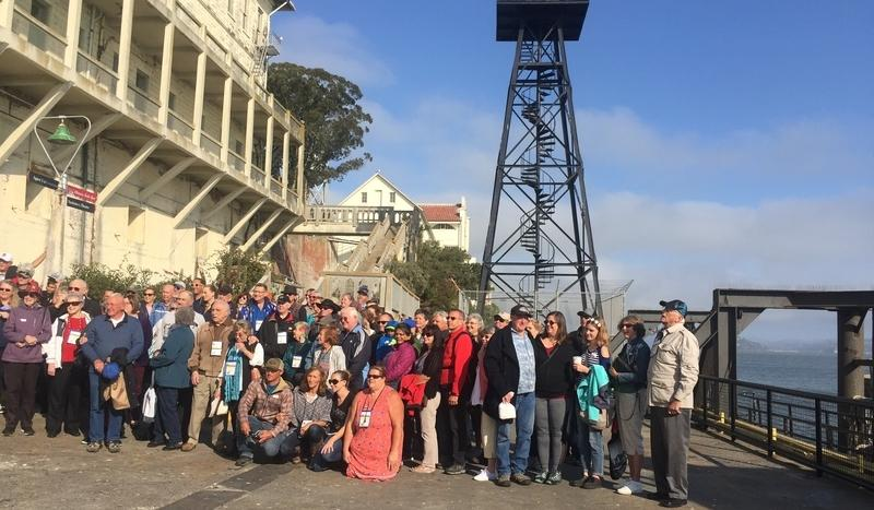 The Alcatraz Alumni pose for a family photo.
