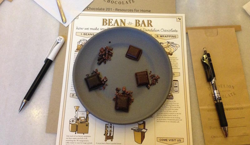 At Dandelion's Chocolate 201 class, employees learn how to make their own batch of bean to bar chocolate.