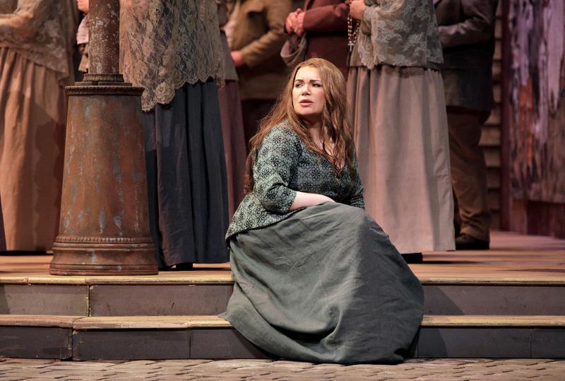 Russian mezzo-soprano Ekaterina Semenchuk as Santuzza in Mascagni's 'Cavalleria Rusticana', opening on Friday September 7 at the San Francisco Opera…